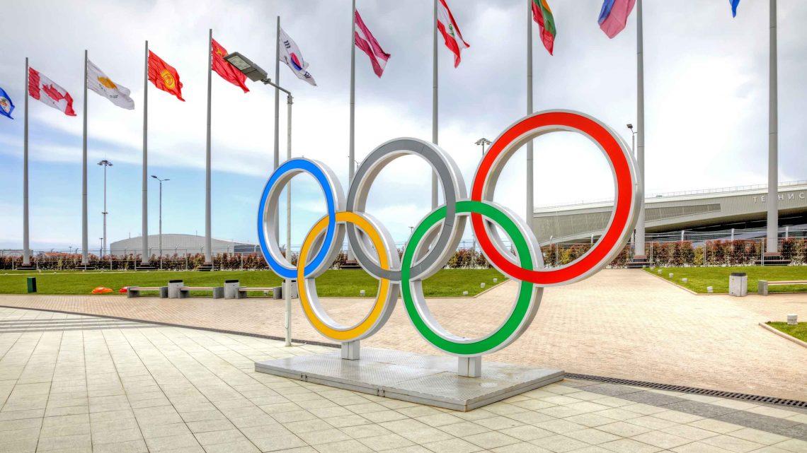 Олимпийские кольца арена Адлер