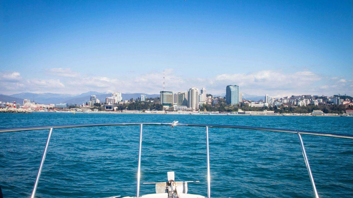 Вид на Сочи с катера